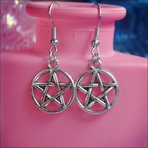 Jewelry - Silver Pentagram Earrings